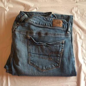 American Eagle Medium Wash Bootcut Jeans, Size 14R